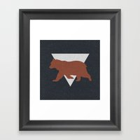 Bear & Bravery Framed Art Print