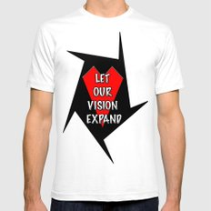 Let our vision expand SMALL White Mens Fitted Tee