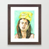 Don't Leave Me Hangin on the Telephone Framed Art Print