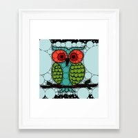 Curiosity Never Killed an Owl Framed Art Print