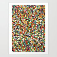 Patchwork Of Colors Art Print
