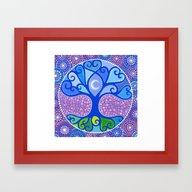 Moon-Tree Mandala Framed Art Print