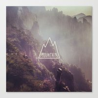 Mountain Lettering Canvas Print