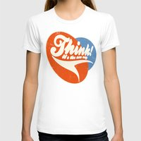 Think! Womens Fitted Tee White SMALL