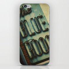 Blue Room Neon Sign iPhone & iPod Skin