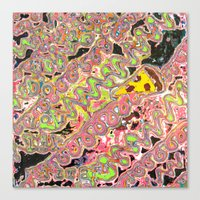 Pickup Lines - Pizza Canvas Print