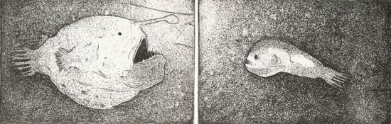Mating Rituals: The Angler Fish Art Print