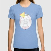 Gasp! Womens Fitted Tee Tri-Blue SMALL