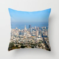 Twin Peaks, San Francisc… Throw Pillow