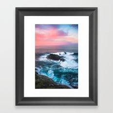 Sunset On The Bay Of Bis… Framed Art Print