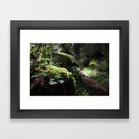 Route Framed Art Print