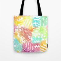 Tote Bag featuring Watercolored Eggs by Wild Notions