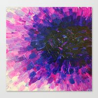 VACANCY - LIMITLESS Bold Eggplant Plum Purple Abstract Acrylic Painting Floral Macro Colorful Void Canvas Print