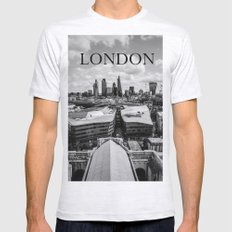The City Of London Mens Fitted Tee Ash Grey SMALL