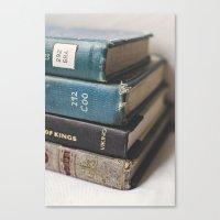 Vintage Books - Book series Canvas Print