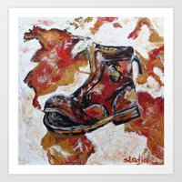 Walk more See more  Art Print