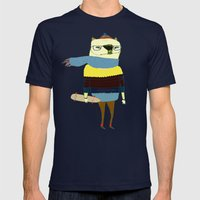 Bear Skateboarder, skateboarding print, skater Mens Fitted Tee Navy SMALL