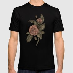 Roses Mens Fitted Tee Black SMALL