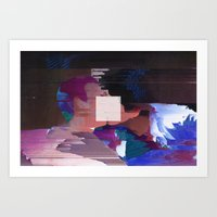 Not a Glitch in Society  Art Print