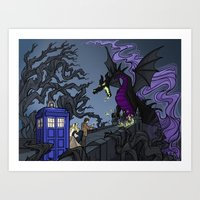 Art Print featuring And Now You Will Deal with ME, O' Doctor by Karen Hallion Illustrations