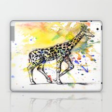 Giraffe in Splash of Color Laptop & iPad Skin