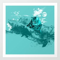 SURF DAY Art Print