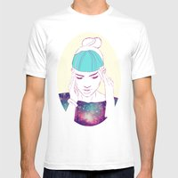 GRIMES Mens Fitted Tee White SMALL
