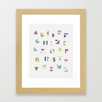 ABC colorful Framed Art Print