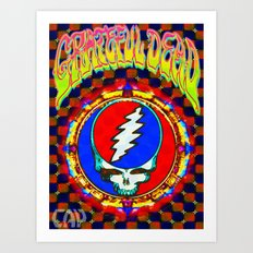 Grateful Dead #8 Optical Illusion Psychedelic Design Art Print