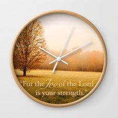 Joy and Strength - Nehemiah 8:10 Wall Clock