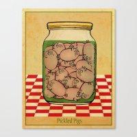 Pickled Pig Revisited Canvas Print