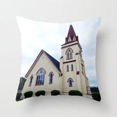 Church under Cloudy Skies Throw Pillow