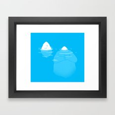 The Tip Of The Iceberg Framed Art Print