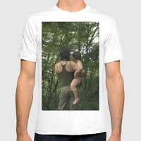 mother and son Mens Fitted Tee White SMALL