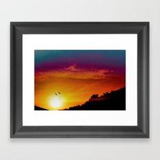 At the rising sun Framed Art Print