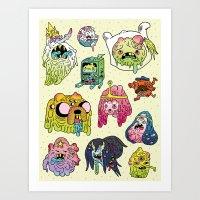 After The Great Mushroom… Art Print