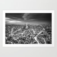 Paris at Night Art Print