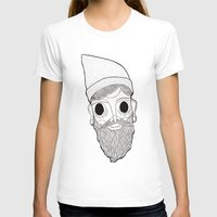 Beard Man Womens Fitted Tee White SMALL