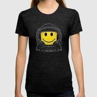Happiness Womens Fitted Tee Tri-Black SMALL