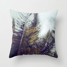 Palm Sky II Throw Pillow