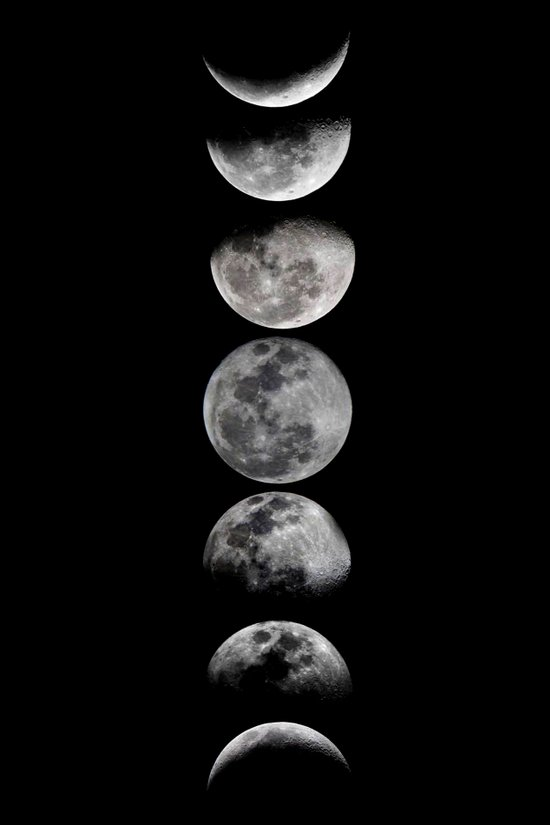 Phases of the Moon Art Print by Efty | Society6
