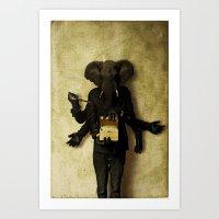 The Elephant Man Art Print