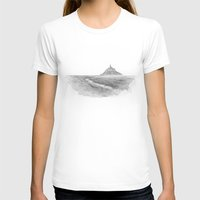 Le Mont-Saint-Michel Womens Fitted Tee White SMALL