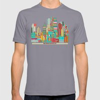 Minneapolis City  Mens Fitted Tee Slate SMALL