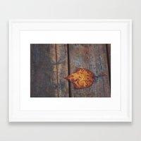 vintage leaf. Framed Art Print