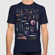 Famous Weapons Mens Fitted Tee Navy SMALL