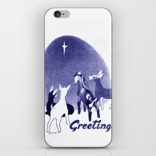 Christmas in the Stable iPhone & iPod Skin