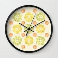 Sunburst: Summer Wall Clock