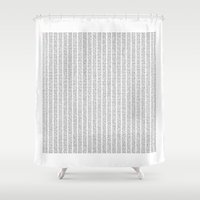 The Number Pi to 10000 digits Shower Curtain