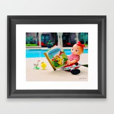 Day at the pool Framed Art Print